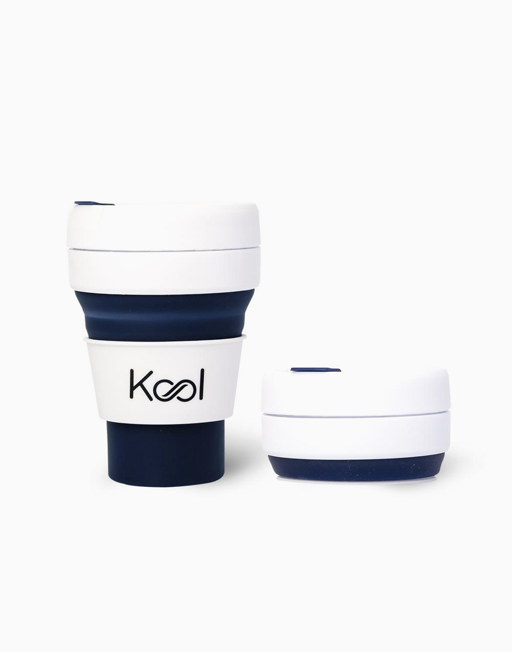 Kool Foldable Cup (355ml) by Kool   Cobalt