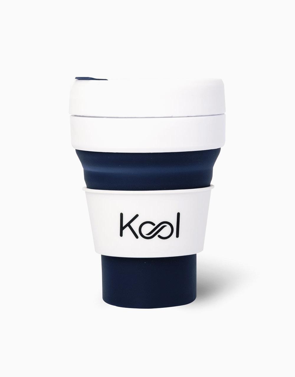 Kool Foldable Cup (355ml) by Kool | Cobalt
