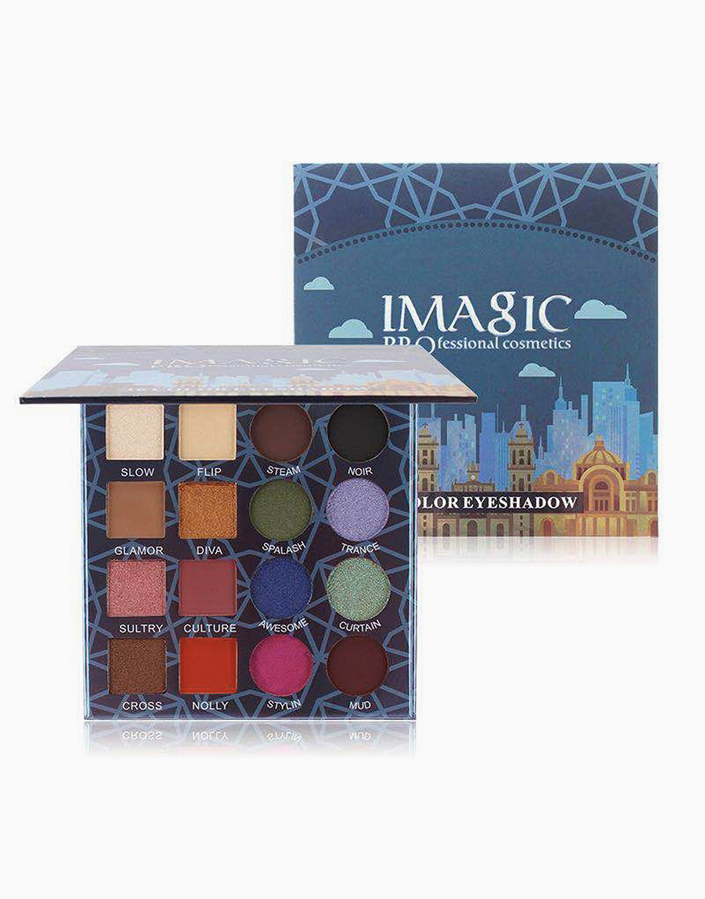16 Color City Eyeshadow Palette by Imagic