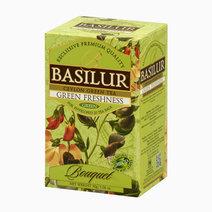 Basilur bouquet tea bag green freshness