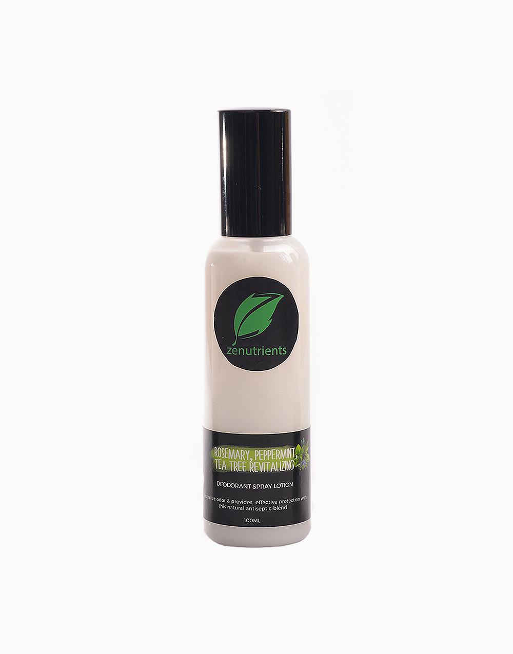 Revitalizing Rosemary, Peppermint, & Tea Tree Deodorant Spray Lotion (100ml) by Zenutrients