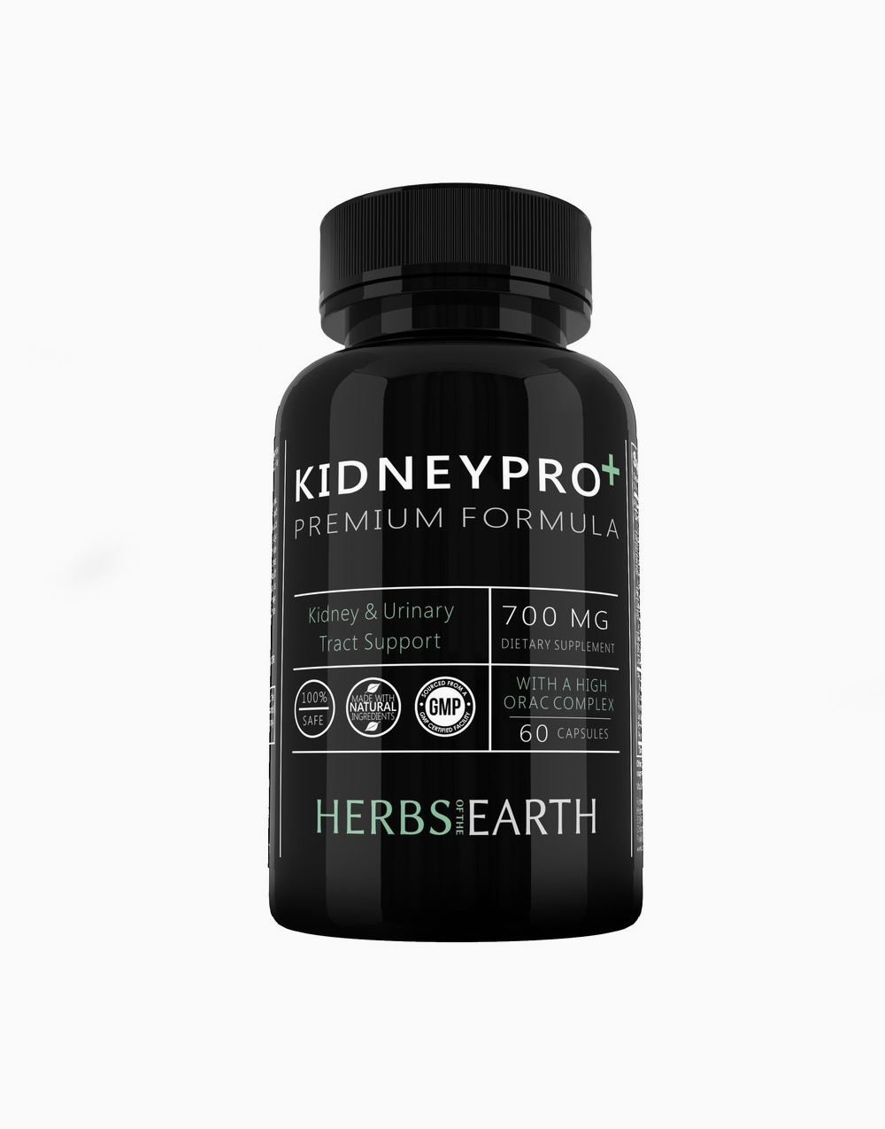 KidneyPro: 21 Natural Ingredients for Total Kidney Support (60 Capsules) by Herbs of the Earth