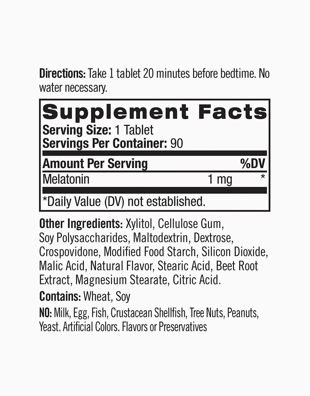 Natrol Melatonin 1mg Fast Dissolve Strawberry Flavor (90 Tablets) by Natrol