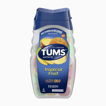 Tums antacid chewable tablets for heartburn relief  ultra strength  tropical fruit  72 tablets