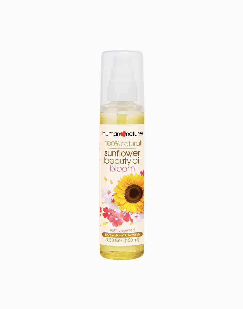 100% Natural Sunflower Beauty Oil BLOOM Lightly Scented (100ml) by Human Nature