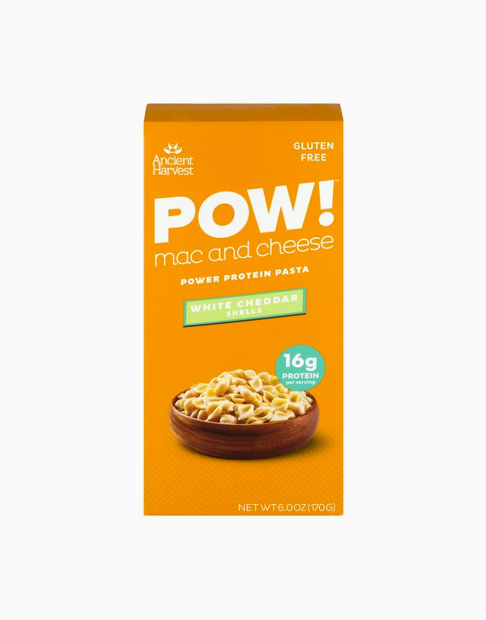 POW! Mac and Cheese Power Protein Pasta White Cheddar Shells by Ancient Harvest