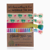 Summer Flamingo and Pineapples Hair Ties by Little Tree Palette