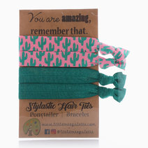 Emerald Cactus Hair Ties  by Little Tree Palette