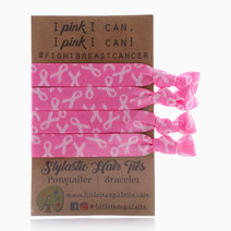 Breast Cancer Ribbons Hair Ties by Little Tree Palette