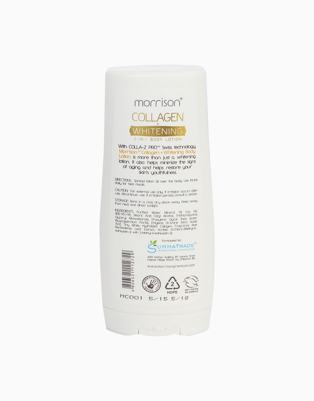 Collagen Whitening 2-in-1 Lotion by Morrison