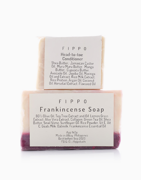 Frankincense Soap with Soap Dish (Red) by Fippo Handcrafted Bath & Body