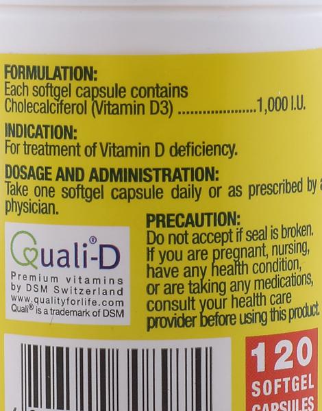 Fern-D Vitamin D3 (120s) by i-Fern