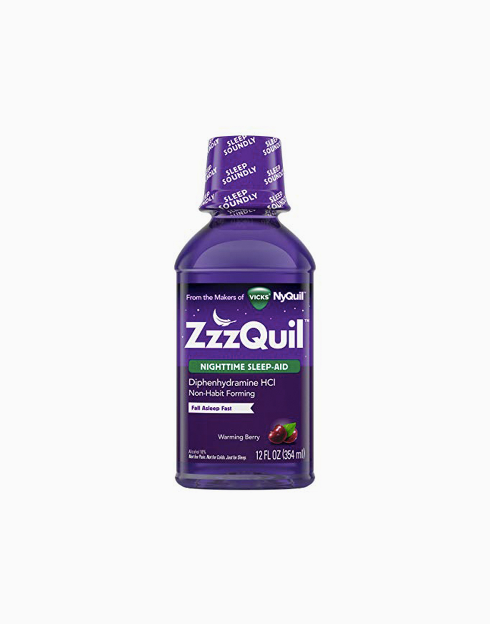 ZzzQuil Nighttime Sleep Aid (Warming Berry Liquid Flavor) by ZzzQuil