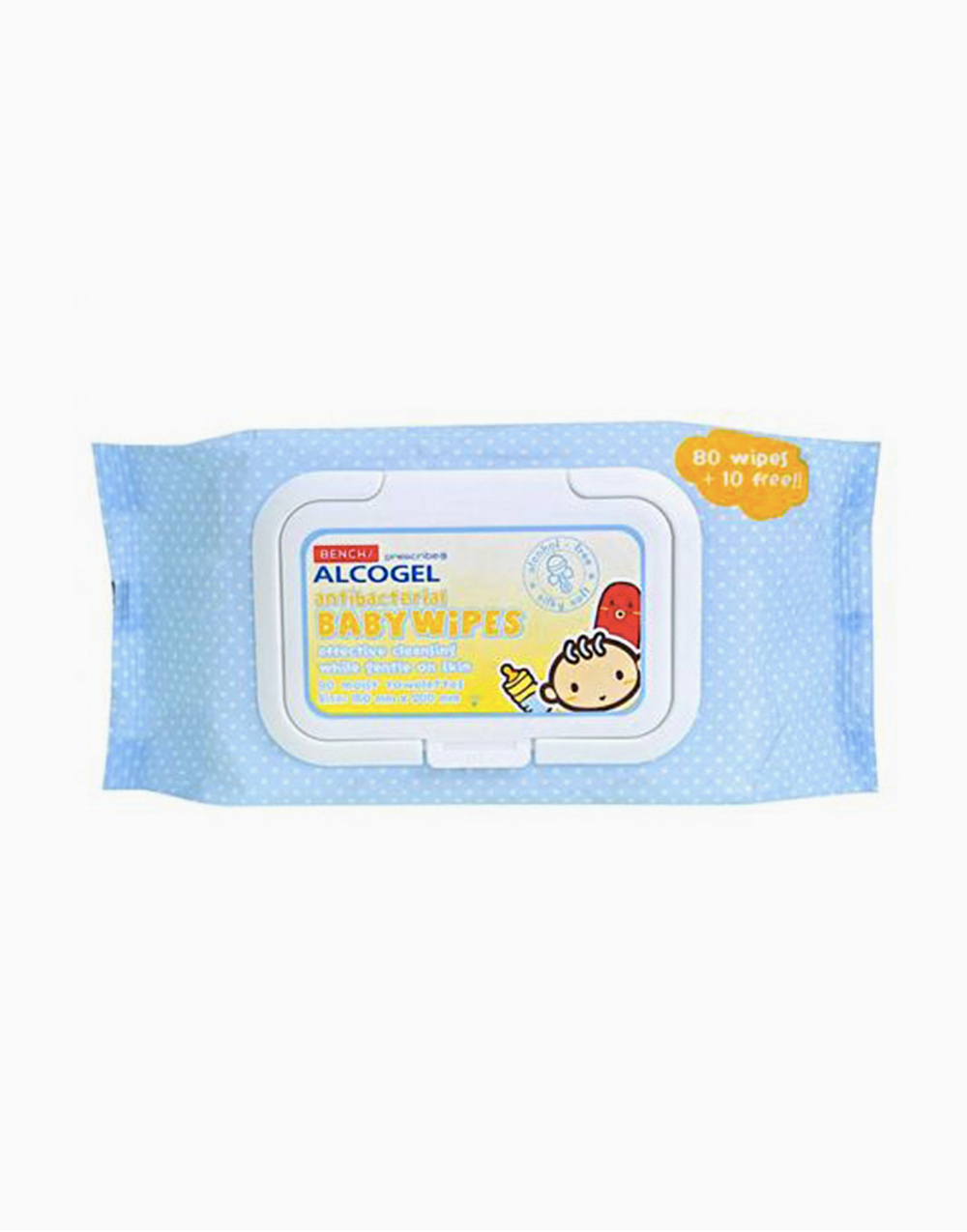 Alcogel: Antibacterial Baby Wipes (90 Sheets) by BENCH