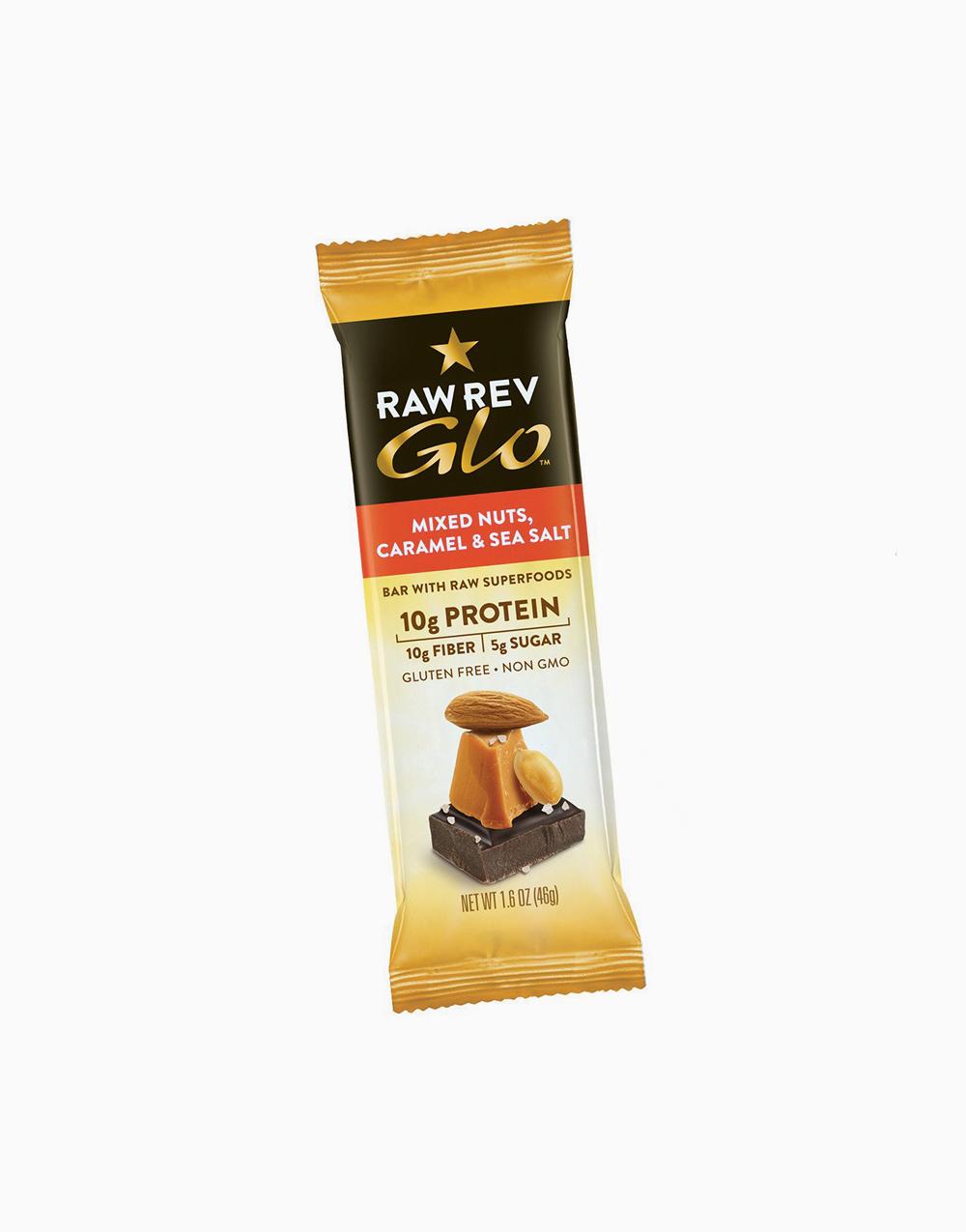Mixed Nuts Caramel & Sea Salt (46g) by Raw Rev Glo