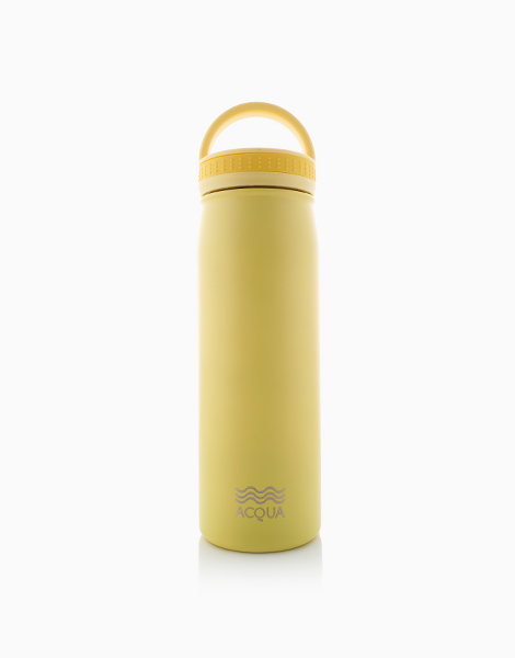 Insulated Water Bottle (500ml) by Acqua Bottles | Lemonade Yellow