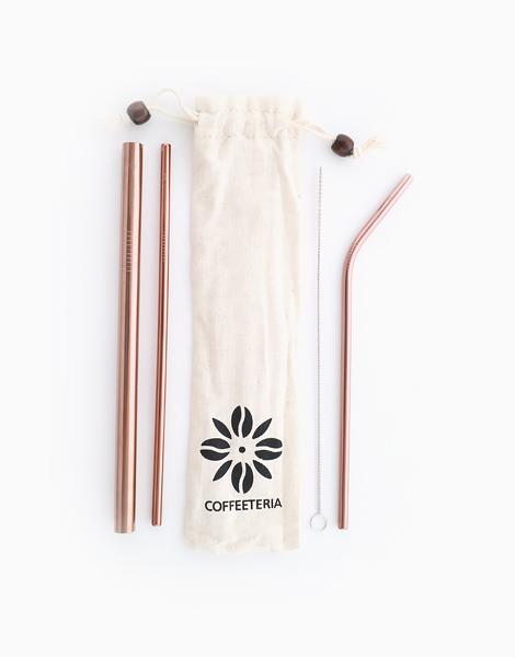 Rosegold Metal Straw Kit by Coffeeteria