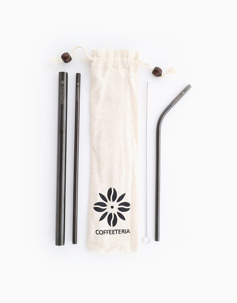 Black Metal Straw Kit by Coffeeteria