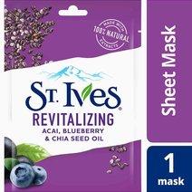 St. ives sheet mask revitalizing blueberry   hero
