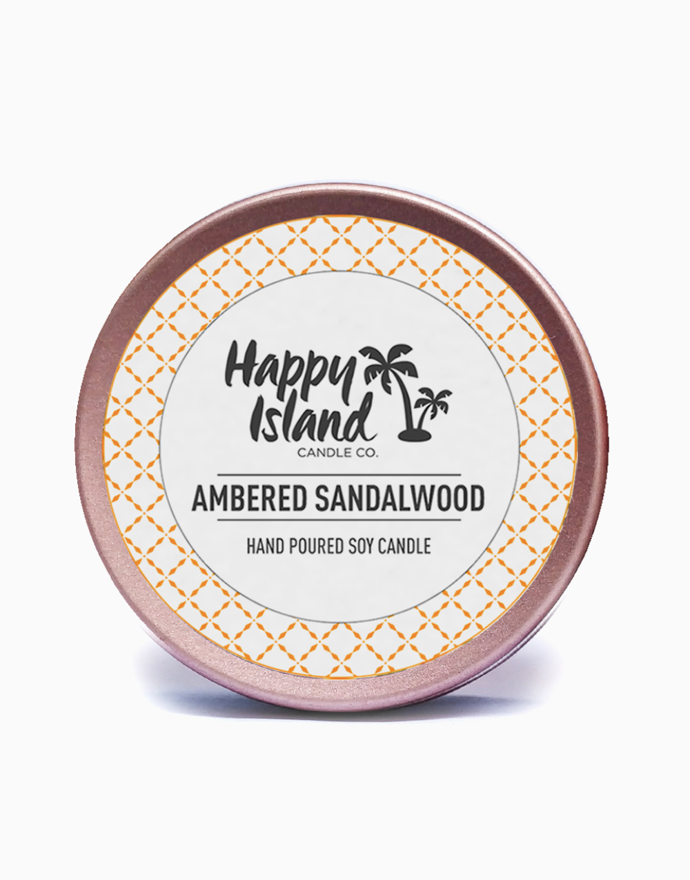 Ambered Sandalwood Soy Candle (2oz/60ml) by Happy Island
