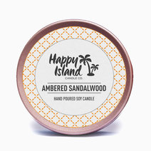 Ambered Sandalwood Candle (2oz/60ml) by Happy Island