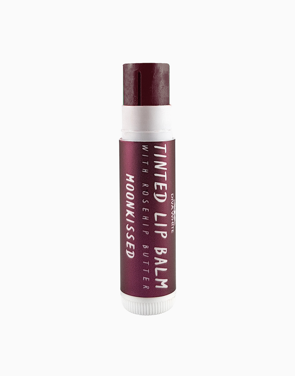 Tinted Lip Balm with Rosehip Butter in Moonkissed by Diva White