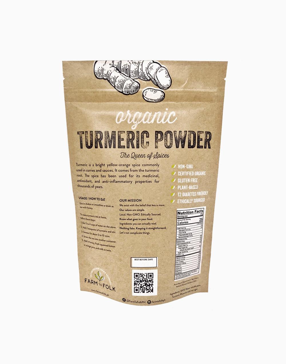 Organic 100% Turmeric Powder (250g) by Farm to Folk