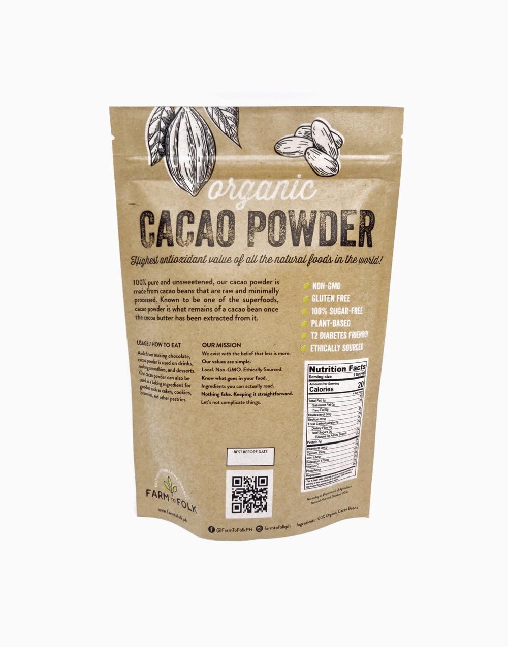 Organic Cacao Powder (450g) by Farm to Folk