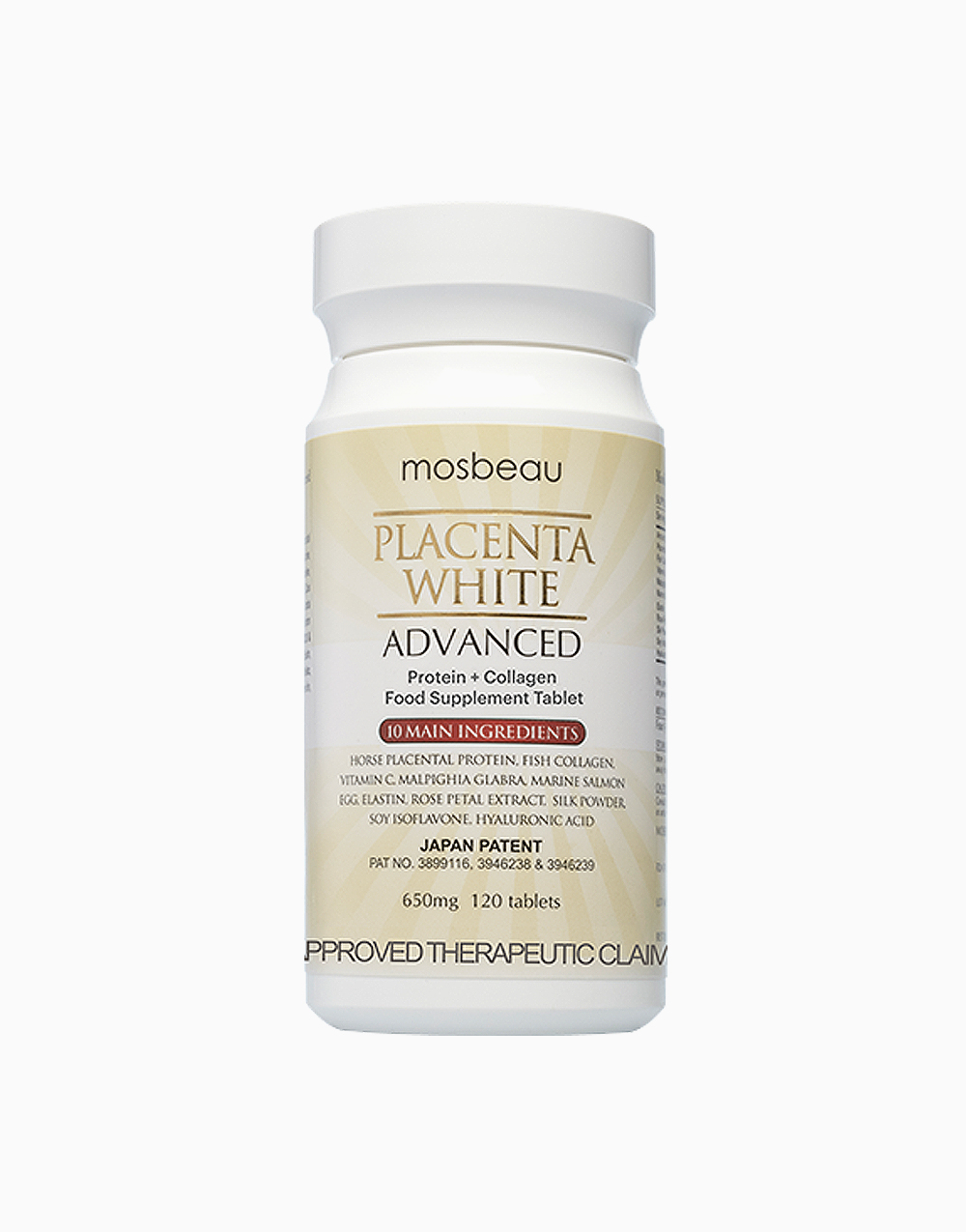 Placenta White Advanced Supplement (120s) by Mosbeau