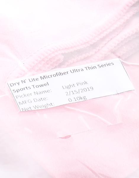 Dry n' Lite Microfiber Ultra Thin Series Sports Towel by Dry N' Lite Microfiber | Light Pink
