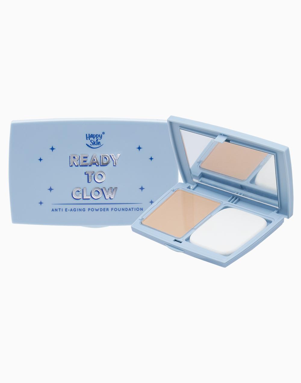 Ready to Glow Anti E-Aging Powder Foundation by Happy Skin |