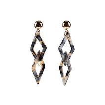 Currant Geometric Long Earrings by Moxie PH