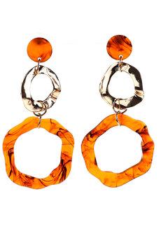 Tawny Acrylic Stud Earrings by Moxie PH