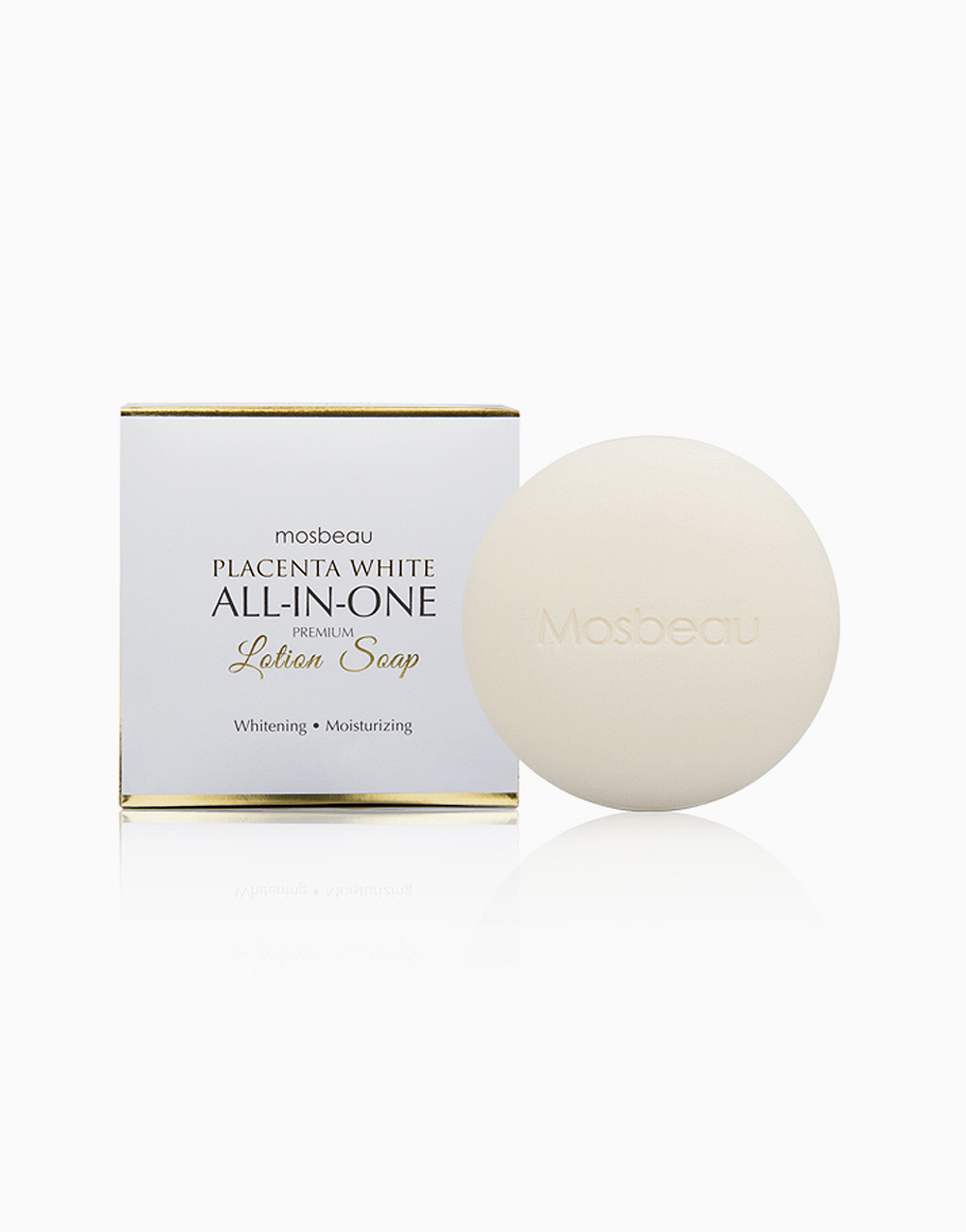 Placenta White All-in-One Premium Lotion Soap by Mosbeau