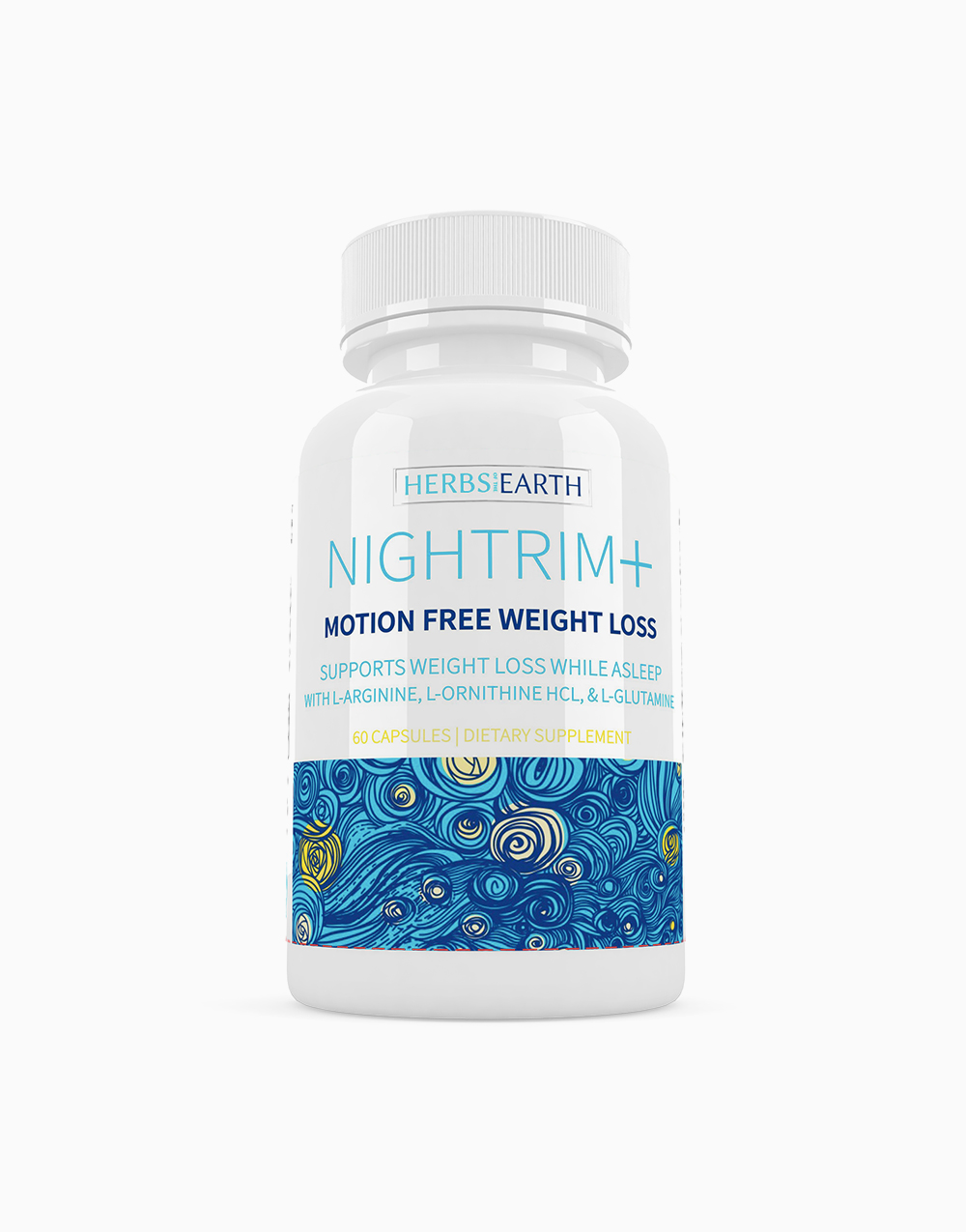 Nightrim+ Motion Free Weight Loss (60 Capsules) by Herbs of the Earth