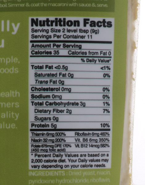 Nutritional Yeast (100g) by Naturally Good Company