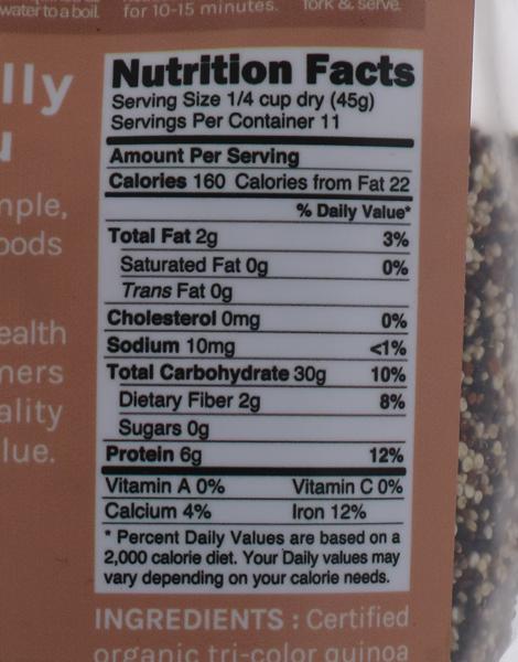 Organic Tri-color Quinoa (500g) by Naturally Good Company
