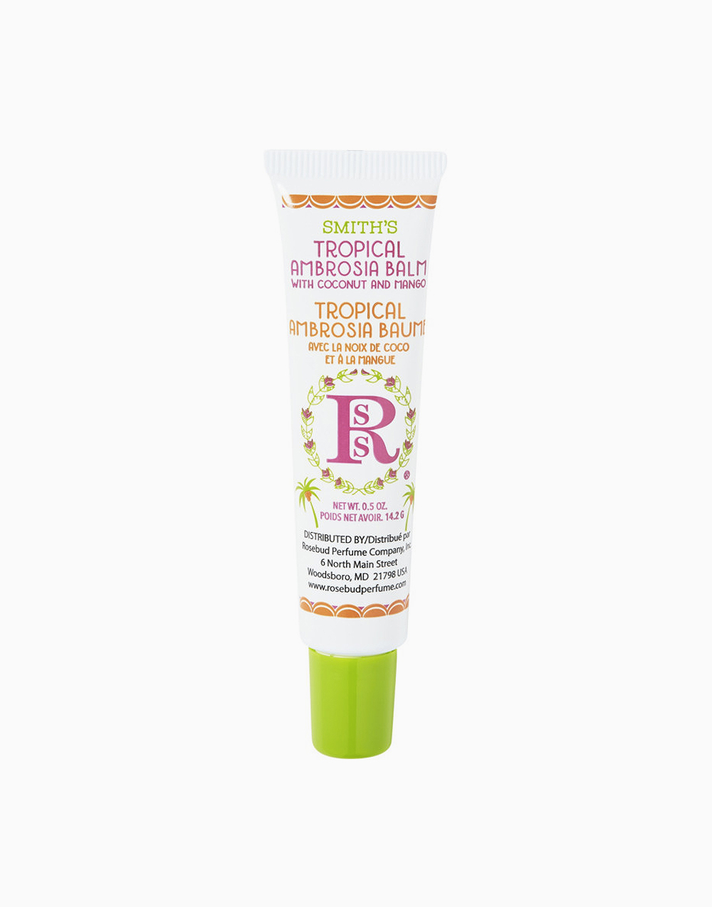 Smith's Tropical Ambrosia Balm with Coconut and Mango Tube by Smith's Rosebud Salve