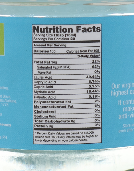 Organic Virgin Coconut Oil (300ml) by Buko Foods
