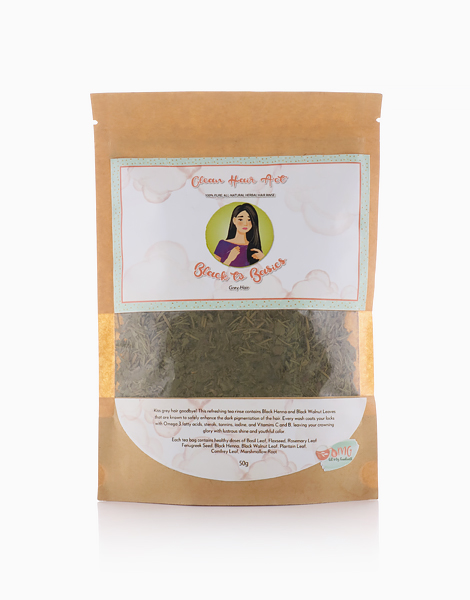 Clean Hair Act Herbal Hair Rinse Black To Basics (50g) by Oil My Goodness
