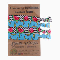 Summer Watermelons and Bananas Hair Ties by Little Tree Palette