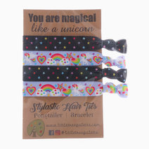 Unicorn and Rainbow Stars Hair Ties by Little Tree Palette