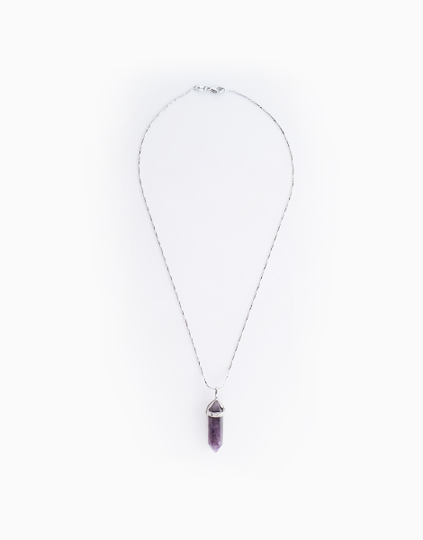 Amethyst Natural Healing Gemstone Pendant with Necklace by Stones for the Soul