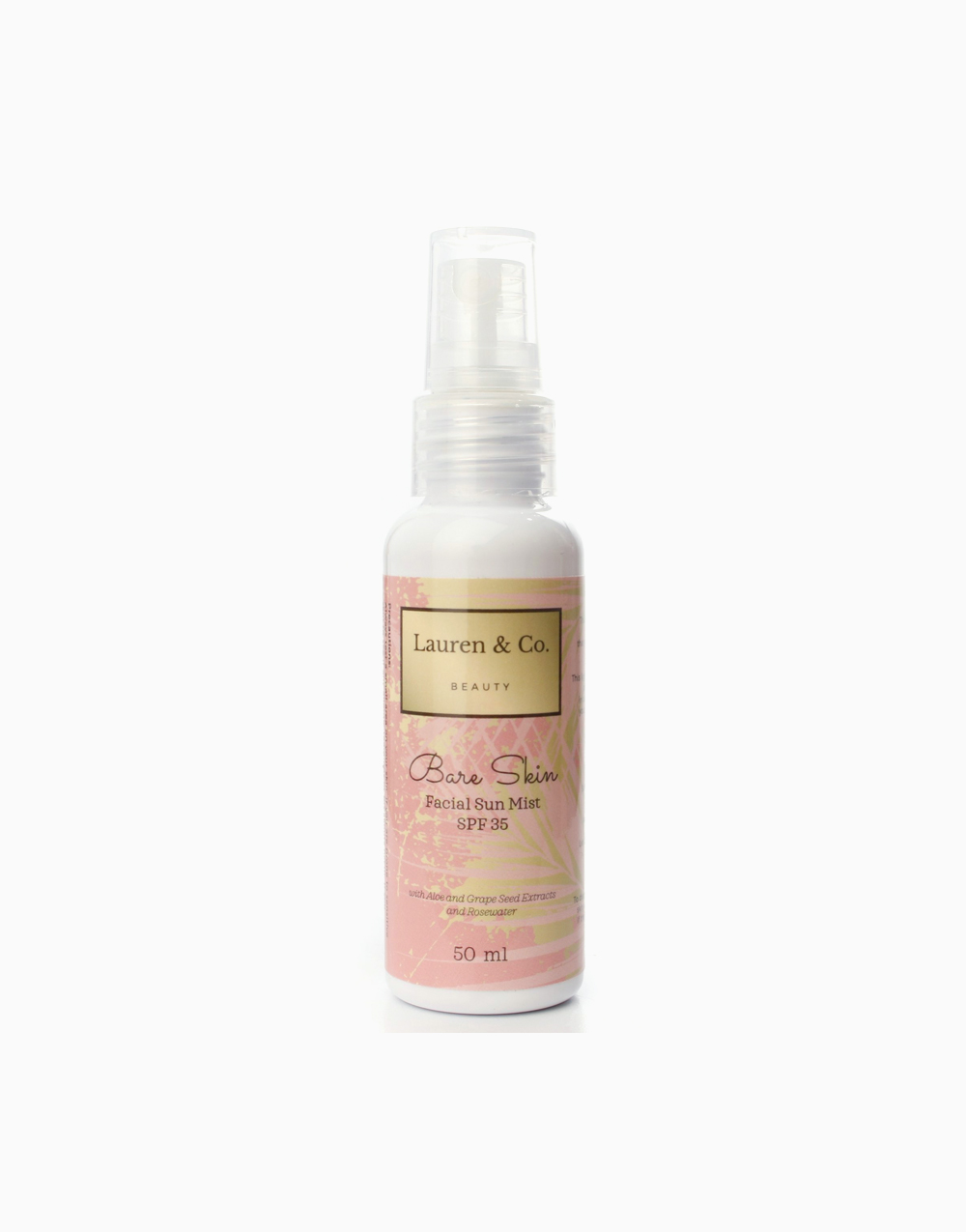 Bare Skin Facial Sun Mist with SPF 35 - Renewed (50ml) by Lauren & Co Beauty