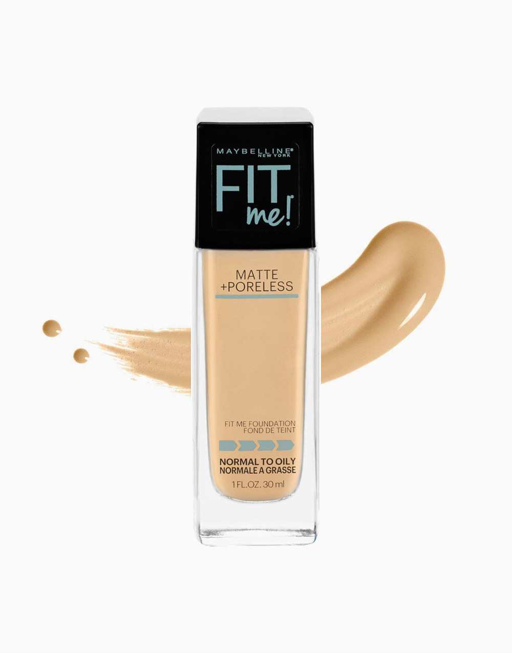 Fit Me Matte Poreless Liquid Foundation by Maybelline | 118 Light Beige