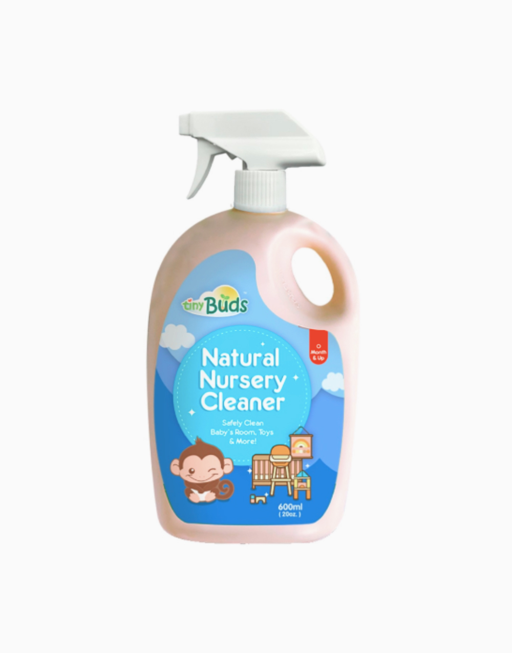 Natural Surface Cleaner Spray Bottle (600ml) by Tiny Buds