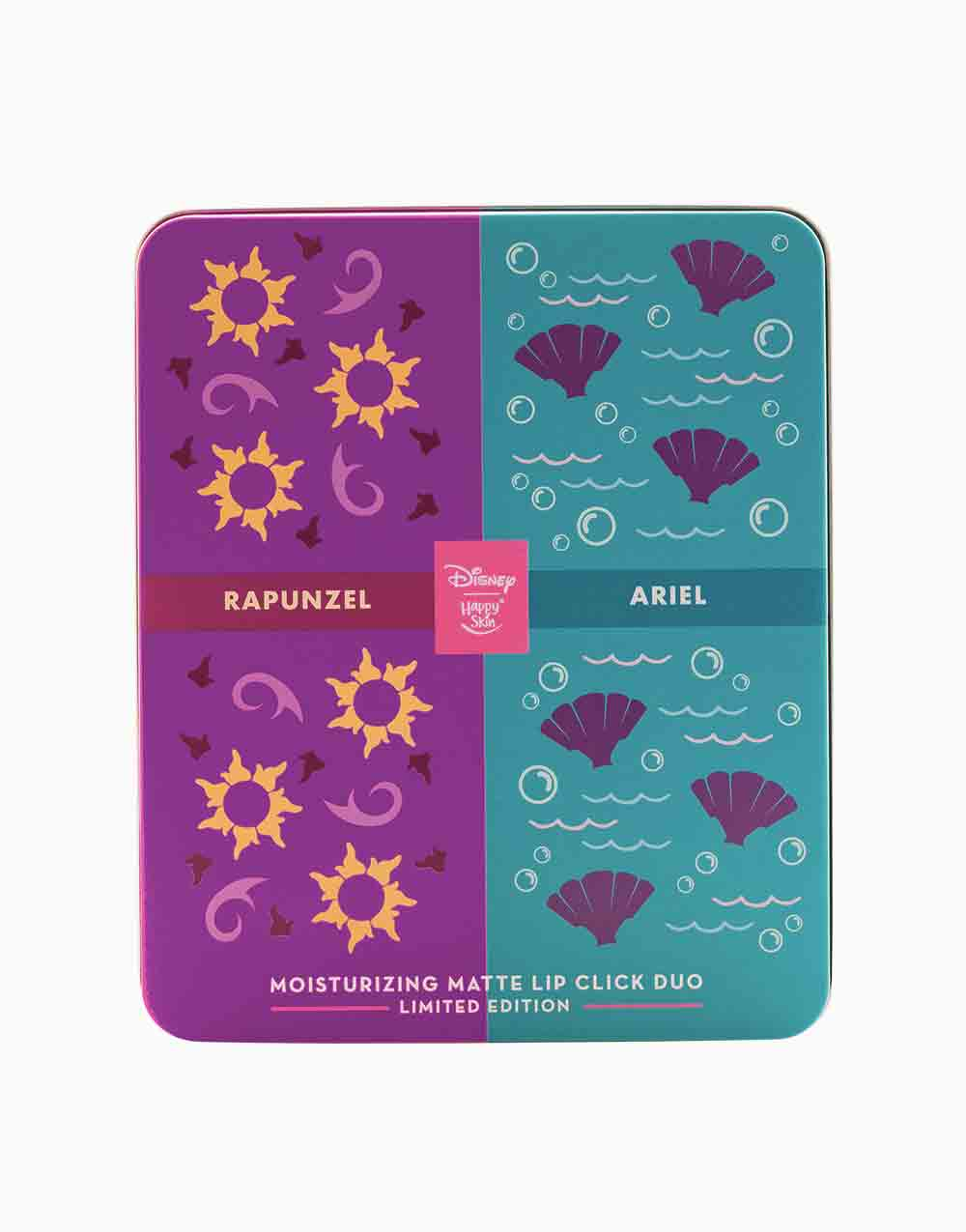 Happy Skin x Disney Moisturizing Matte Lip Click Duo (Limited Edition) by Happy Skin | Rapunzel & Ariel