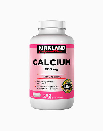 Calcium 600mg+Vit D3 (500Tabs) by Kirkland