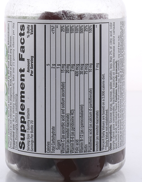 B Complex Energy, Adult Vitamins, Wild Strawberry (70 Gummies) by Vitafusion