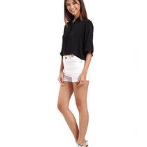 Toppicks cropped polo black